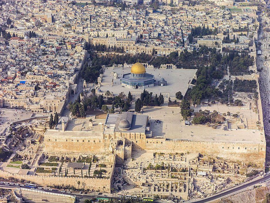 Aerial-Jerusalem-Temple Mount Temple Mount