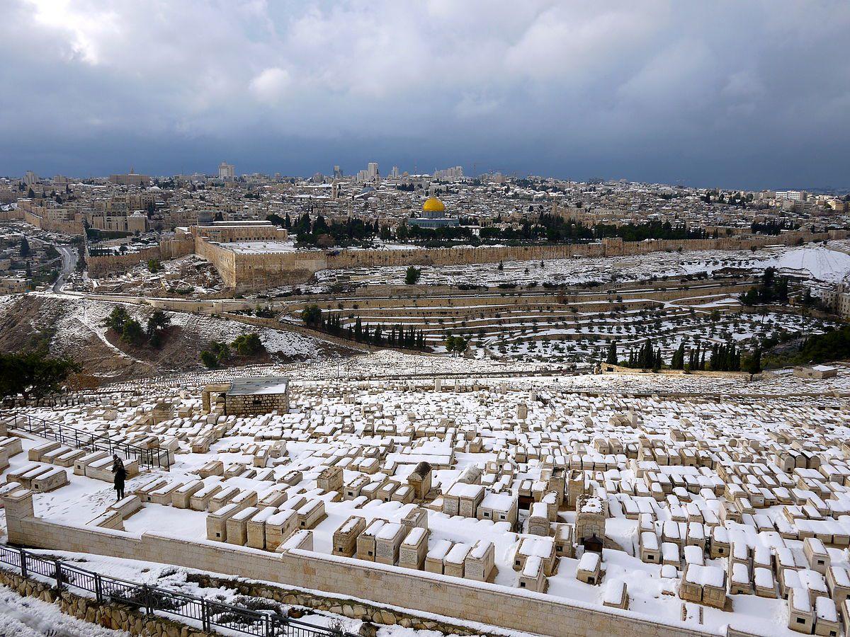 Jerusalem snow!