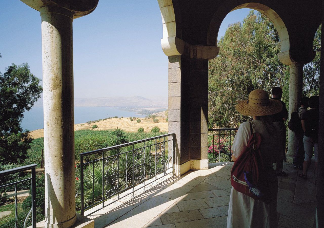 Mount of Beatitudes The view from the porch of the church