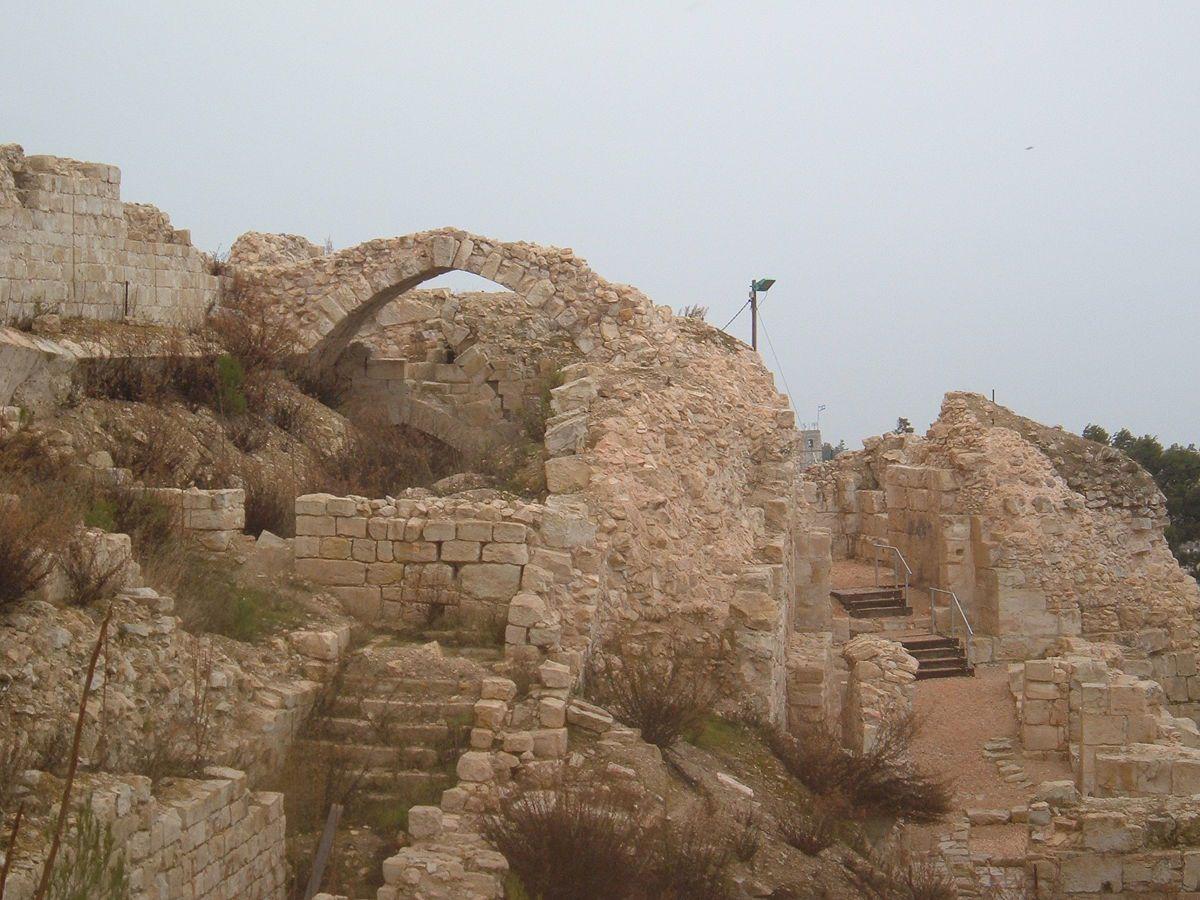 Ruins of the Crusader-Mamluk-era fortress of Safed