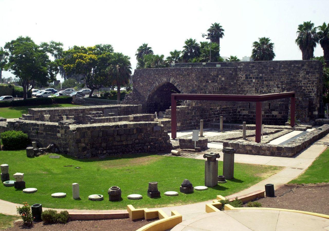 Tiberia Archaeological garden and restored Crusader building