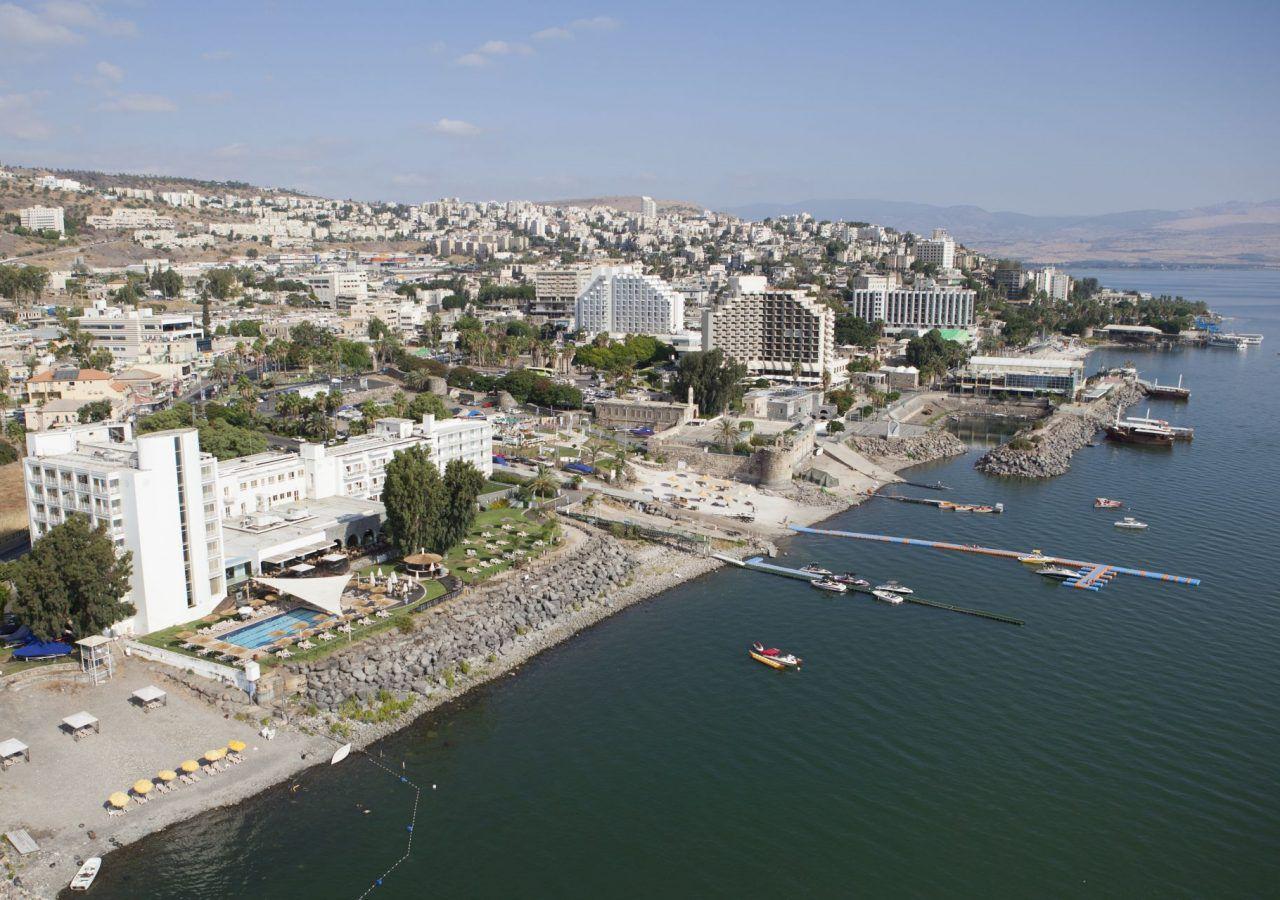 Aerial view Tiberias Hotels
