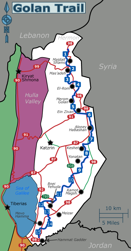 golan trail map