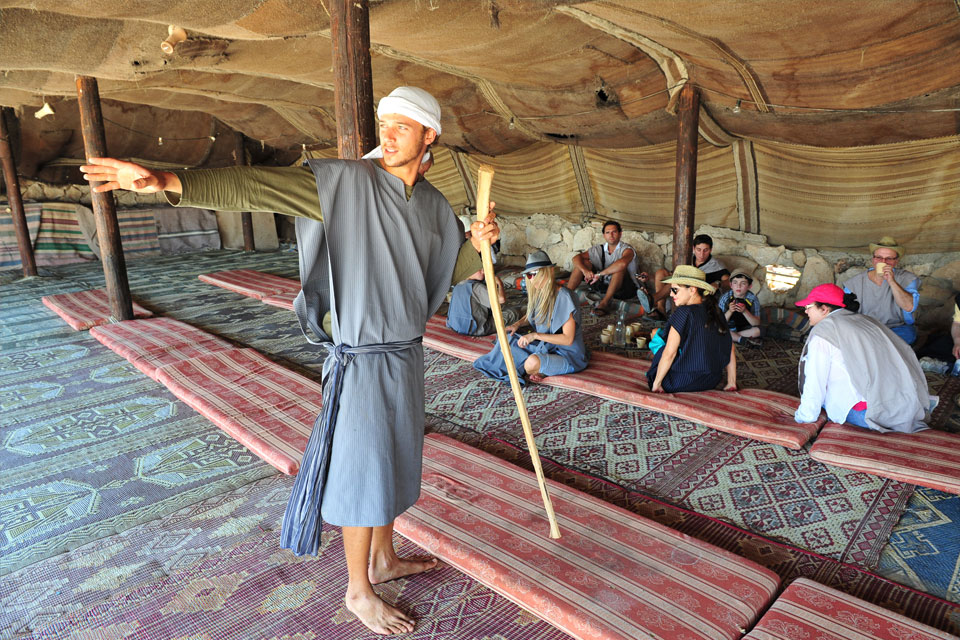 Camping in a Bedouin tent